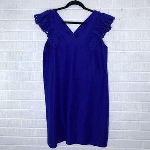 J. Crew Collection Ruffle-Shoulder Sheath Dress 12